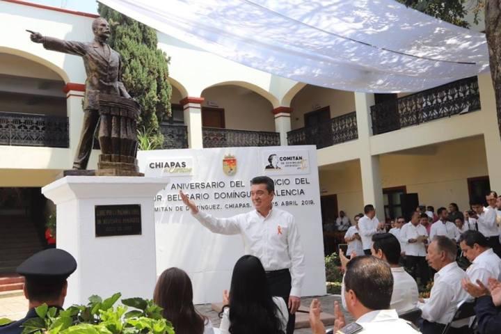Con trabajo honesto, honramos el legado de Don Belisario Domínguez: Rutilio Escandón