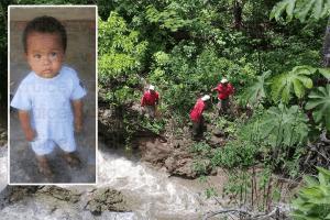 Localizan cadáver de niño que cayó en el Ojo de Agua de Socoltenango