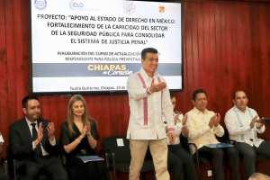 Destaca Rutilio Escandón suma de esfuerzos para fortalecer profesionalización policial