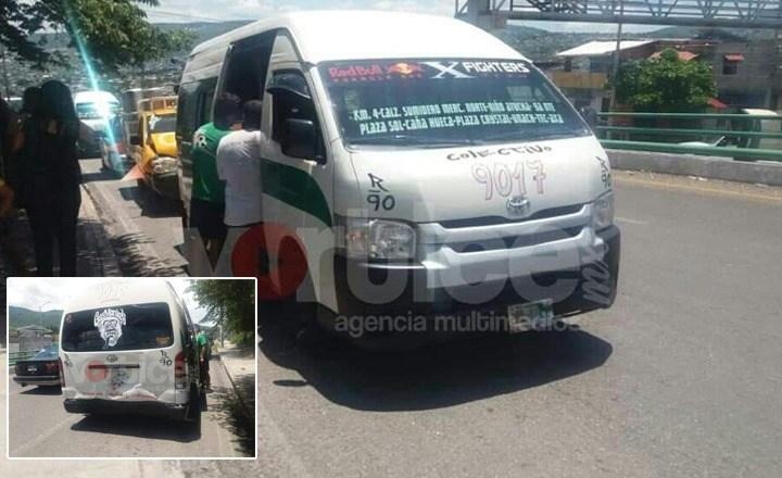 Colectivazo deja cinco heridos en Tuxtla