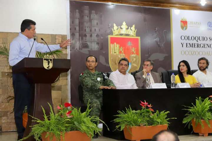 Inaugura Rutilio Escandón coloquio sobre migración, factores medioambientales y emergencias