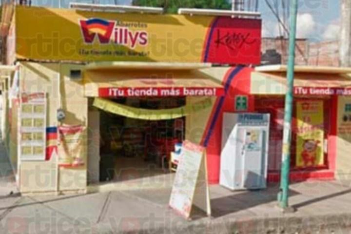 Sujetos armados asaltan tienda Willys
