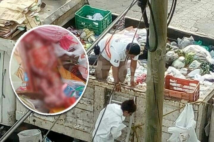 Hallan feto en camión recolector de basura en Chiapa de Corzo