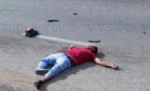 Iba a su trabajo y lo mató un veloz vehículo