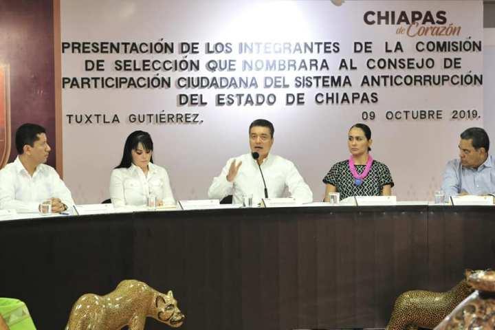 Pide Rutilio Escandón seriedad en la conformación del Sistema Anticorrupción de Chiapas