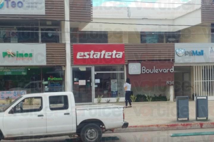 Asaltan Estafeta y se llevan 80 mil pesos