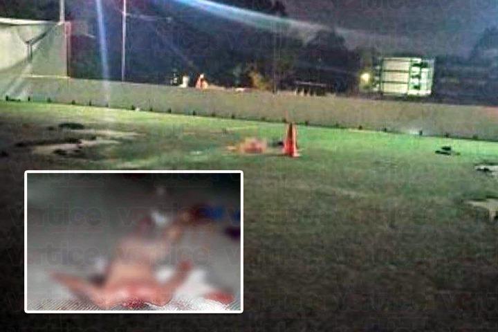 Hallan cadáver desmembrado en cancha de futbol rápido en Tapachula