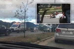 Muere motociclista tras ser atropellado cerca de la Prepa en San Cristóbal