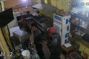Ladrones aprovechan el COVID 19 para robar en un bar