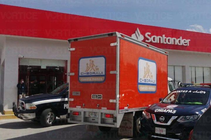Asaltan en sucursal bancaria de San Cristóbal