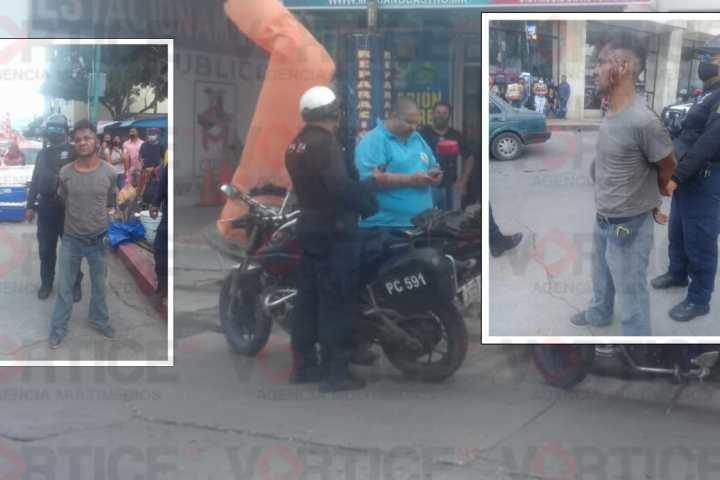 Casi linchan a presunto ladrón en la zona centro