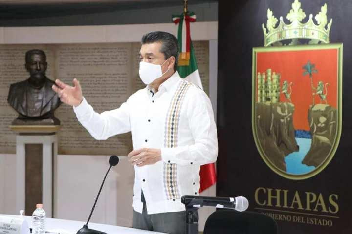Chiapas continúa aplanando la curva de contagios de COVID-19: Rutilio Escandón