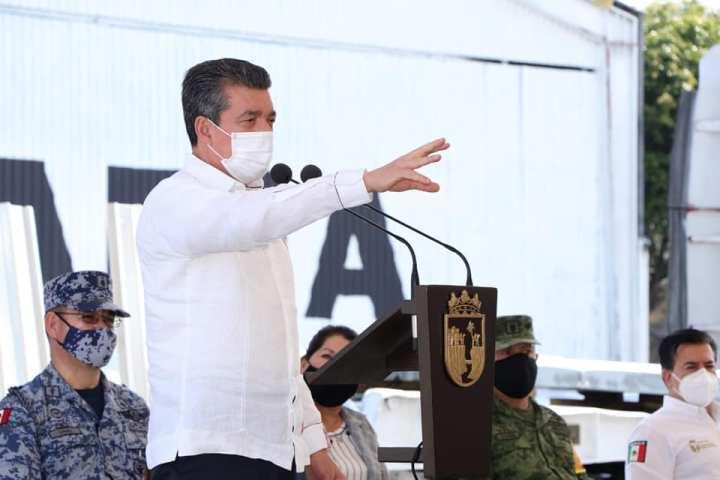 Reconoce Rutilio Escandón respaldo de AMLO para apoyar a población damnificada de Chiapas