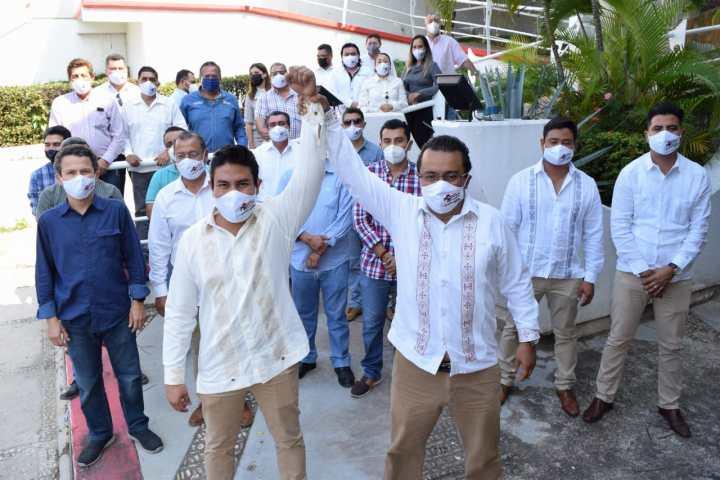 """Aspirante a la dirigencia de CMIC, Antonio Trejo se suma al """"Proyecto Incluyente"""" encabezado por Rogelio López Vázquez"""