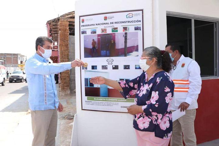 En Chiapas se han concluido aproximadamente 15 mil viviendas del Programa Nacional de Reconstrucción