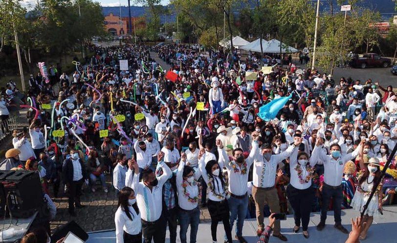 Denuncian a Chiapas Unido por realizar mitin político sin medidas sanitarias