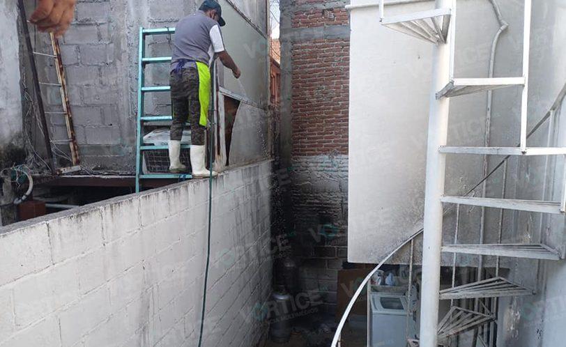 Explota cilindro de gas en el barrio La Pimienta