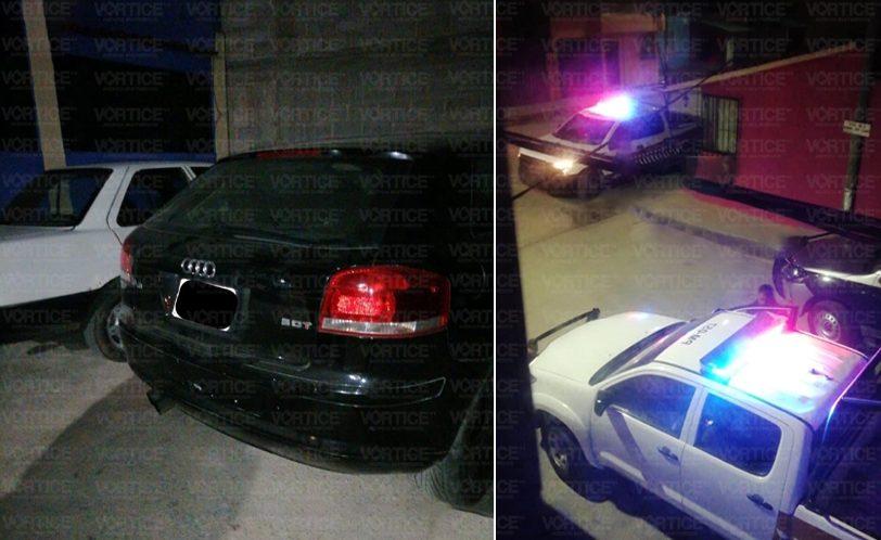 Disparos movilizan a la policía y aseguran automóvil tras persecución