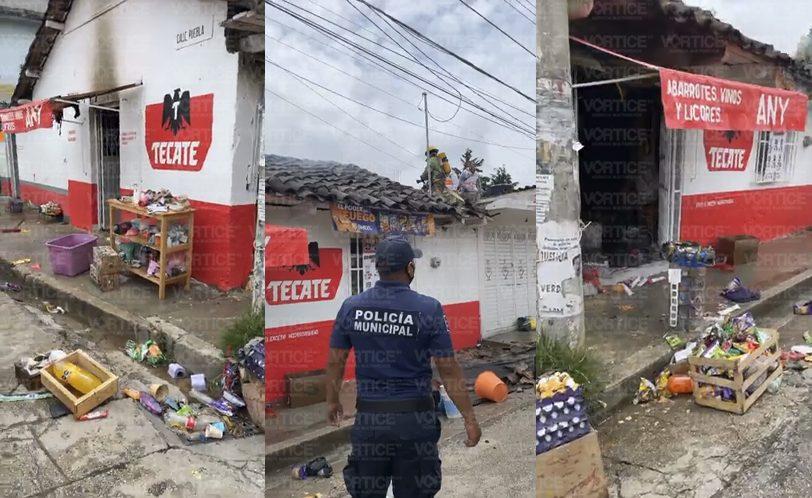 Se incendia tienda en San Ramón debido a un cortocircuito