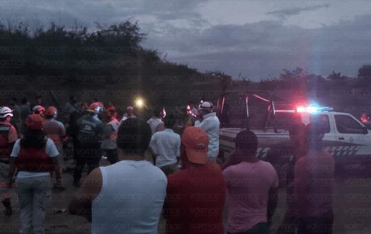 Muere abuela y sus nietos sepultados por alud de tierra en San Fernando