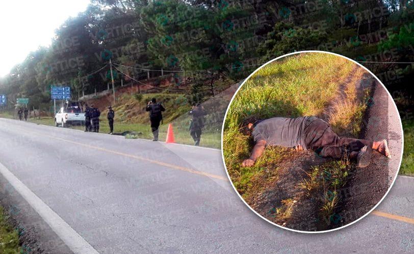 Hallan cadáver a un costado de la carretera Teopisca - Amatenango