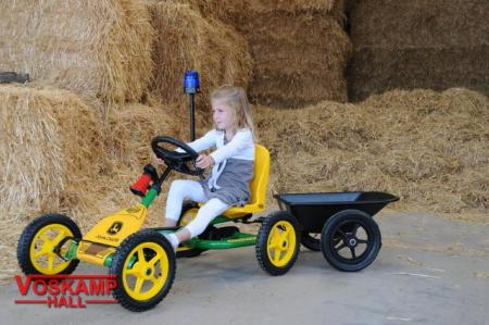 BERG John Deere Buddy + accessories + trailer junior with girl