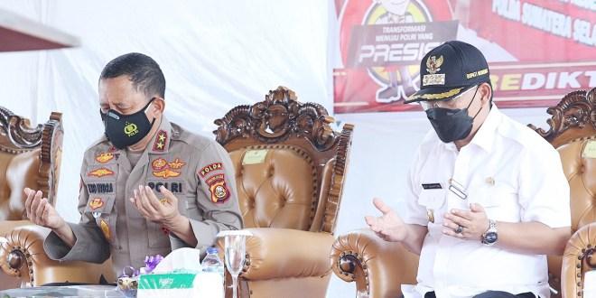 Bupati Muratara H. Devi Suhartoni (HDS) dan Kapolda Sumsel Irjen Pol Prof Eko Indra Heri