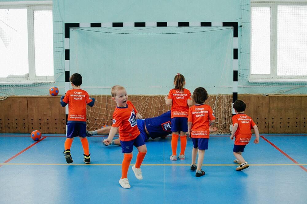 Тренировка по мини-футболу