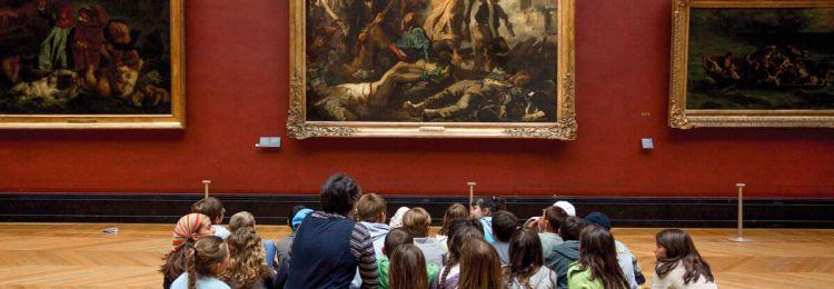 Дети в картинной галерее