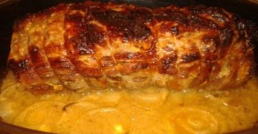 Le Rôti de Porc Au Miel Et Moutarde