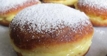 Beignets à la crème pâtissière à la vanille sans four
