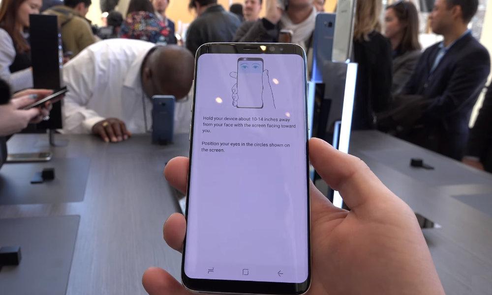 Iris scaner Samsung Galaxy