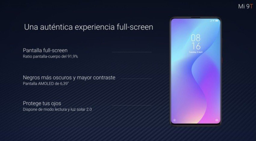Xiaomi Mi 9T displej
