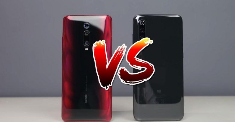 porovnanie mobilov Xiaomi Mi 9 vs Redmi K20 Pro