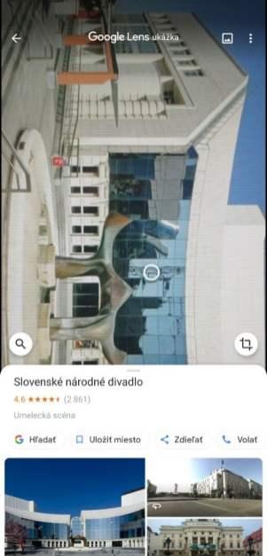 Google Lens informacie o oskenovanom objekte