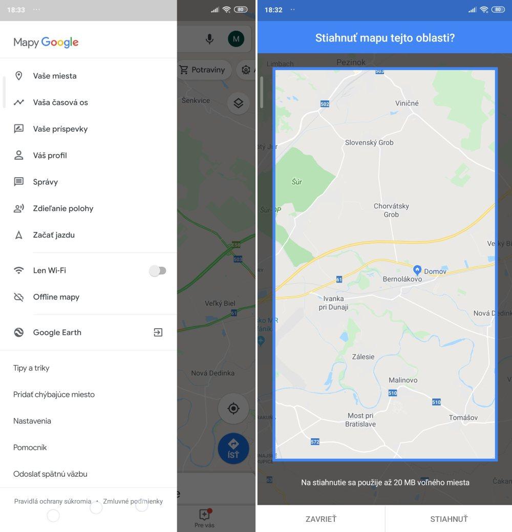 Skryte funkcie Google mapy_ offline mapy