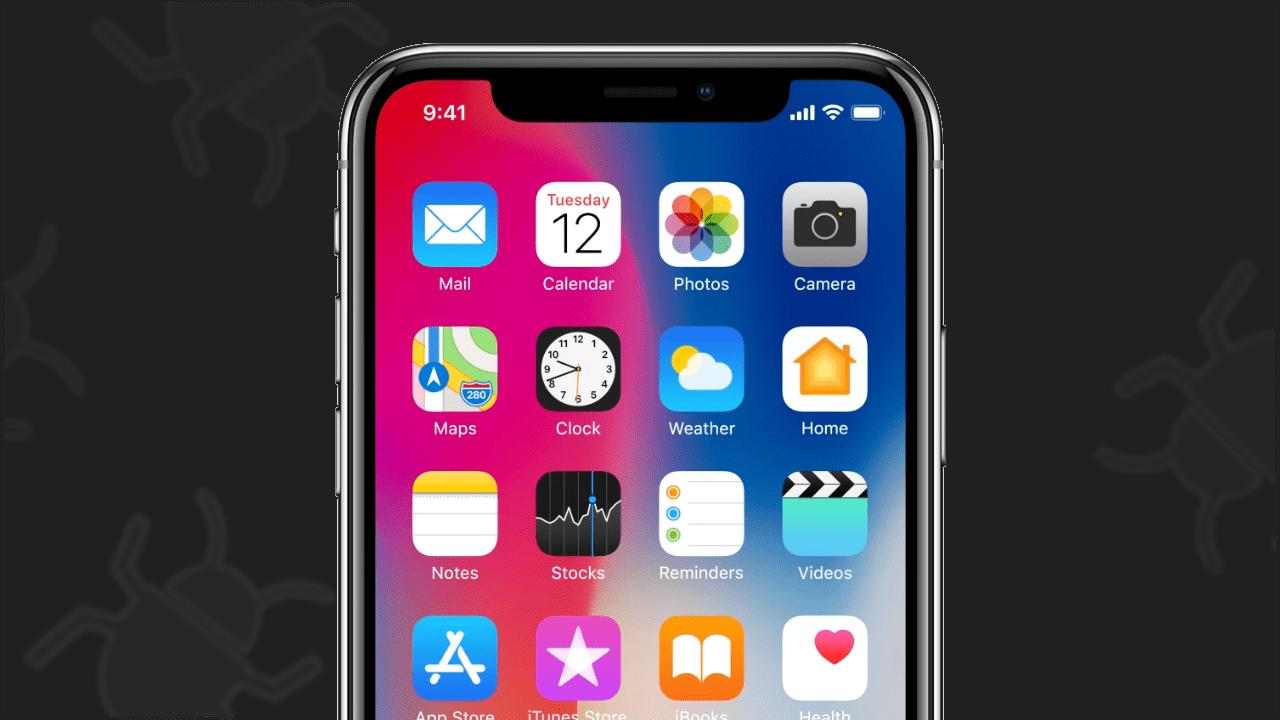 Apple iOS bug chyba