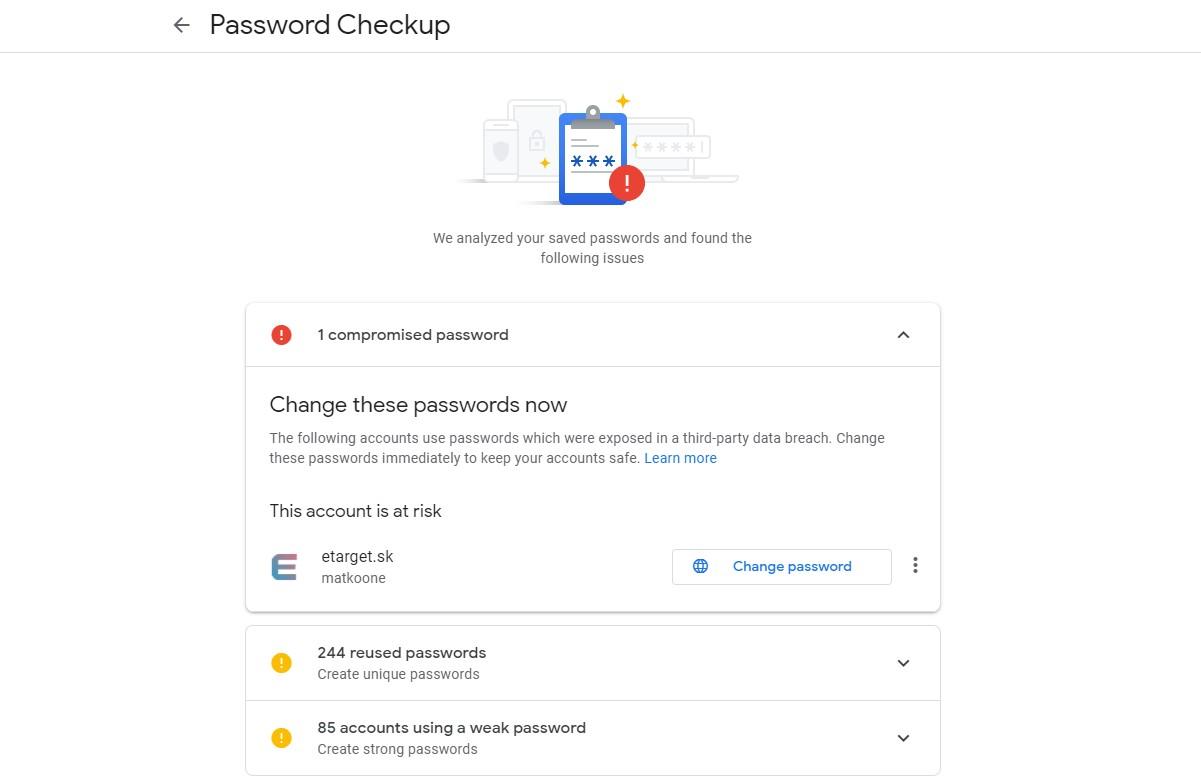 kontrola hesiel pomocou prehliadaca Google Chrome