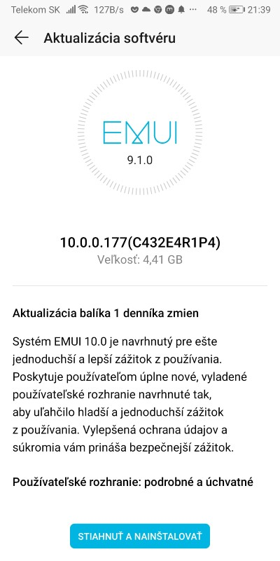 Honor View 10_Android 10 a EMUI 10_2