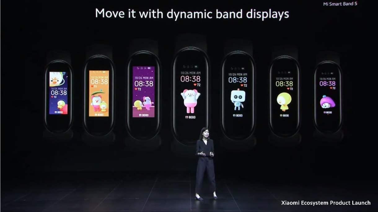 Xiaomi Mi Band 5_dynamicke pozadia
