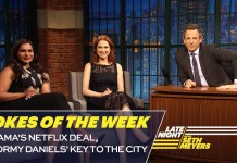 Seth's Favorite Jokes of the Week: Obama's Netflix Deal, Stormy Daniels' Key to the City