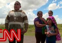 CNN films border patrol detaining 4 children, 2 adults