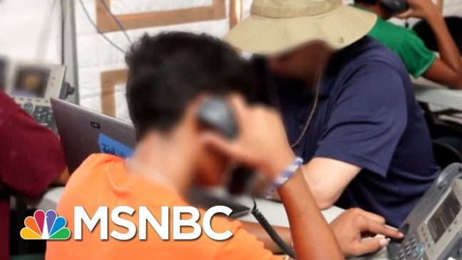 First Look Inside Tent Camps For Migrant Children | Craig Melvin | MSNBC