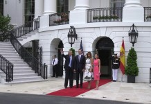 President Trump & First Lady Melania Trump Welcome King Felipe VI and Queen Letizia of Spain