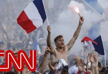 France celebrates 4-2 World Cup win over Croatia
