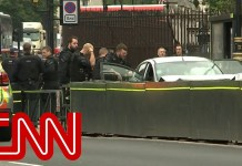 Car crashes into barrier outside UK parliament, man arrested