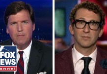 Tucker takes on liberal radio host Ethan Bearman