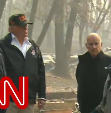 Trump tours fire-ravaged town: We'll get it taken care of