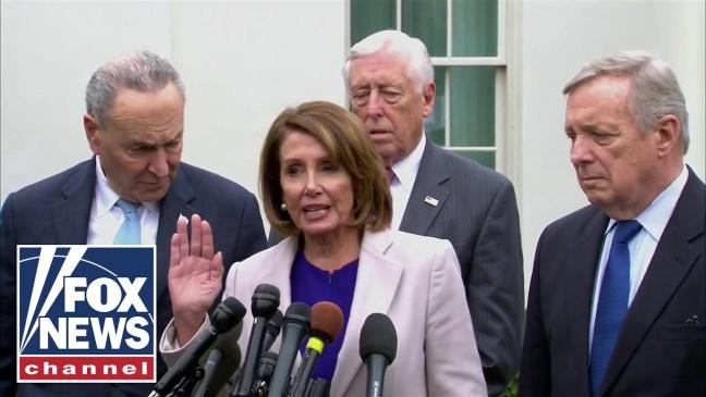 Democratic leaders speak after meeting with Trump
