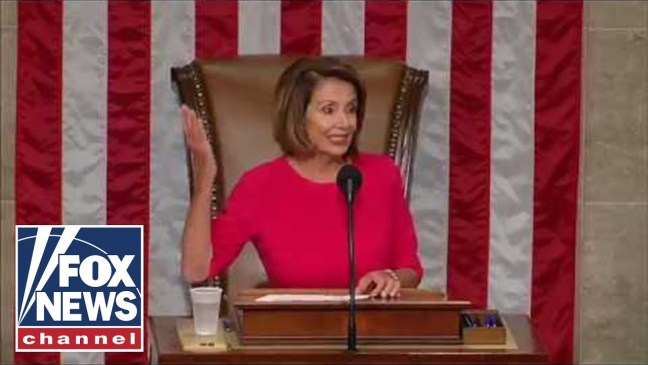 Nancy Pelosi addresses the opening of the 116th Congress